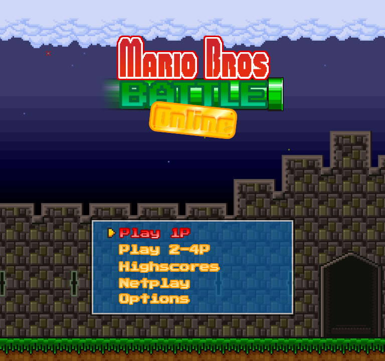The title screen for MB Battle Online