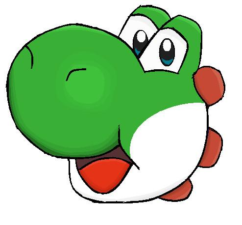 Yoshi head, drawn by ThatNintendoGamer364
