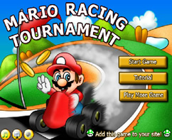 Mario Bros Racing Tournament