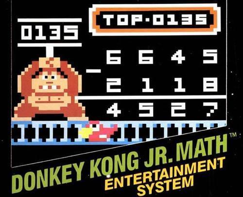 The artwork from the European box of Donkey Kong Jr Math