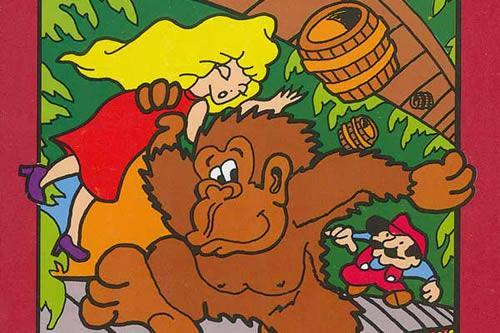 Donkey Kong kidnapping pauline, Atari 2600 style