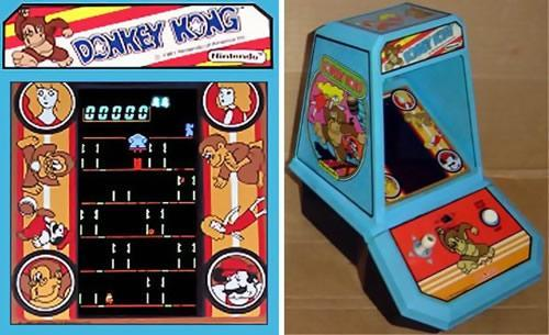 The table top mini arcade version of Donkey Kong