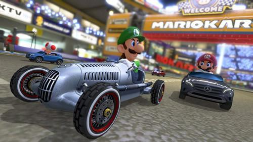 "No brotherly love between Mario and Luigi in their Mercedes ""Karts"""