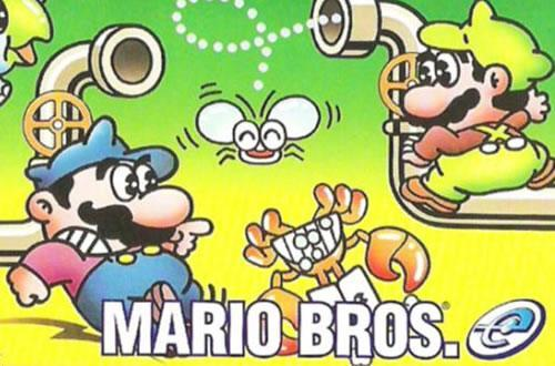Artwork from the e-Reader version of Mario Bros.