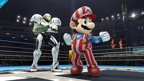 Mario in his Mario Golf inspired outfit in Super Smash Bros for 3DS and Wii U