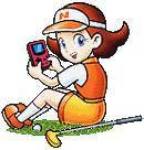 Azalea from Mario Golf playing on her GBC