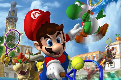Mario Power Tennis art