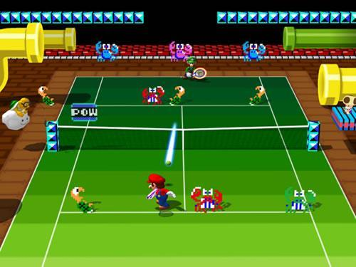 Mario Power Tennis: Mario Bros themed course