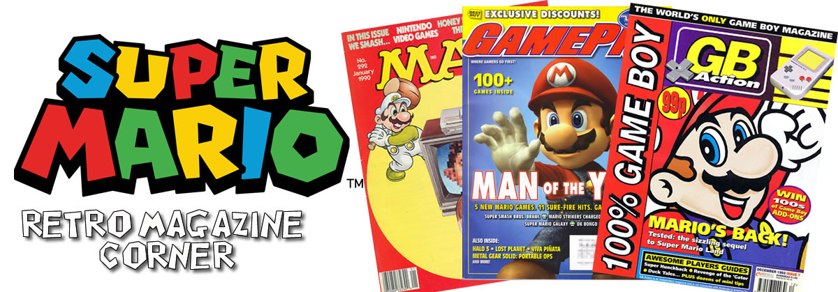 Retro Super Mario Magazine Scans header