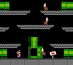 Mario Bros style stage in Mario's Time Machine