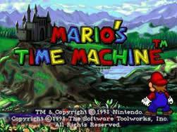 Mario's Time Machine PC title screen