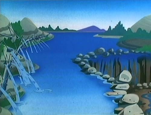 The River from Super Mario Bros. Super Show episode 5: Rolling Down the river