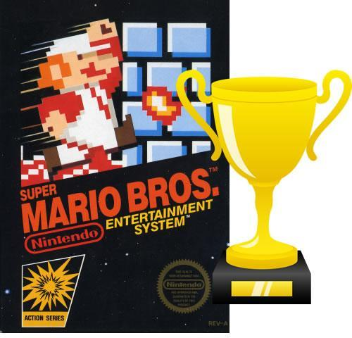Super Mario Bros is now featured in the videogame hall of fame.