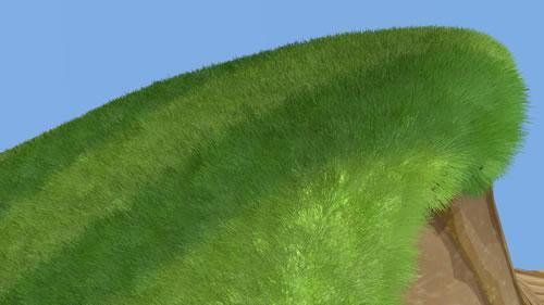 First render of grassy hill