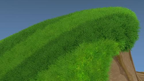 Pattern and depth map grass render