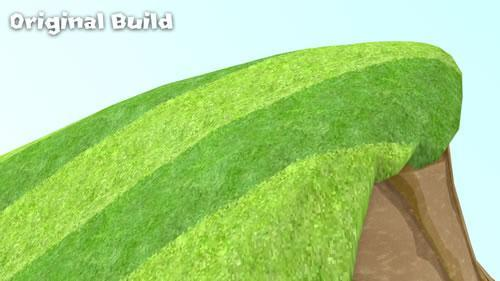 Original build of grassy hill