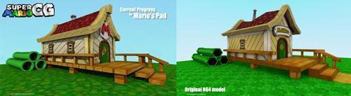 Mario's Pad current progress vs. original N64 model