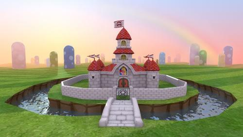 Super Mario CGi: Castle with moat