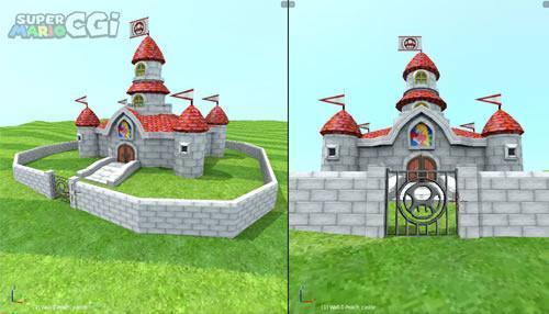 Super Mario CGi: Exterior castle wall
