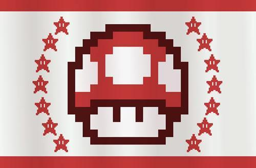 Super Mario CGi: Final flag design