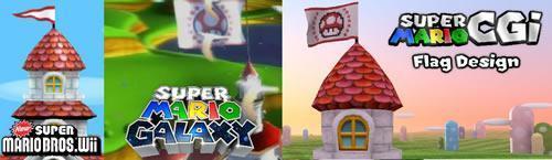 Super Mario CGi: Flag design
