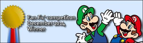 Mario Fan Fic competition 2014 winner banner