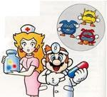 Dr. Mario and Nurse Toadstool from the NES/Game Boy manual