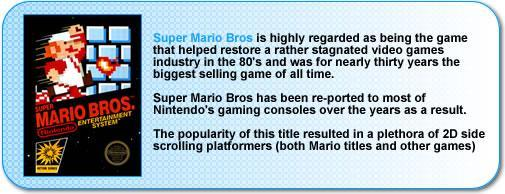 More information about Super Mario Bros for the NES