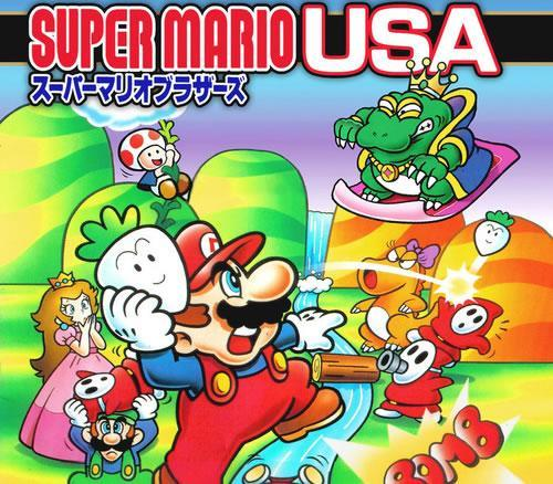 Super Mario USA, Artwork from the box
