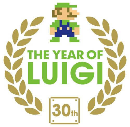The Year of Luigi logo marking the 30th anniversary of Luigi appearing in videogames