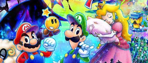 Mario, Luigi, and Peach in Mario & Luigi: Dream Team Bros