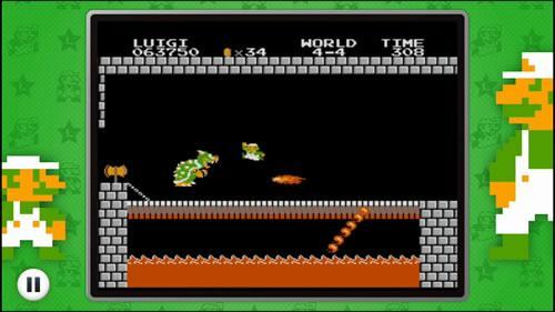 Luigi takes on Bowser, 8 Bit style