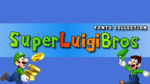 Super Mario & Nintendo themed fonts collection