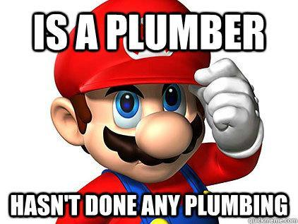 Good Guy Mario - A plumber, rarely plumbs