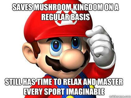 Good Guy Mario - a keen sportsman, despite busy schedule