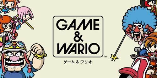 A game and watch style image of GAME & WARIO and some of its cast of characters