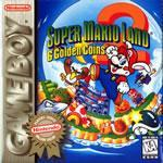 Super Mario Land 2 box cover on the gameboy