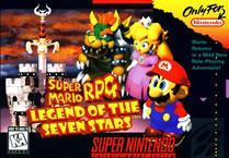 Super Mario RPG Legend of the seven stars SNES box cover