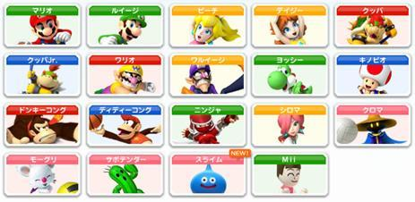 Mario Sports Mix Wii characters