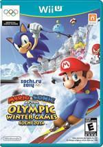 Mario & Sonic at the Sochi 2014 Games on the Wii U box cover