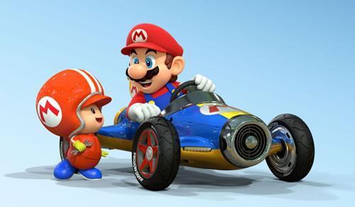 A Toad customising Mario's Kart in MK8