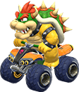 Bowser in his kart in Mario Kart 8