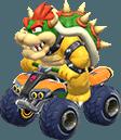 Bowser in his kart in Mario Kart 8