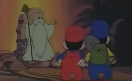 The Mushroom Hermit with Mario and Luigi