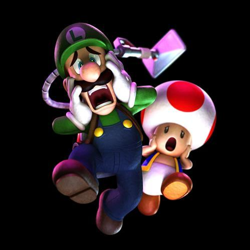Luigi ghostbuster and toad scared