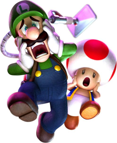 Luigi ghostbuster and toad scared 2