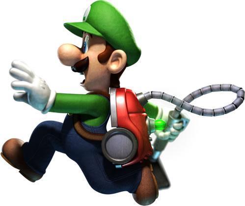 Luigi Ghostbuster runniing