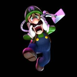 Luigi ghostbuster scared