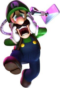 Luigi Ghostbuster scared second picture