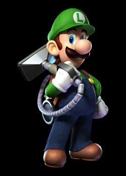 Luigi With The Poltergust 5000
